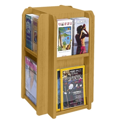 Literature Carousel with 8 Magazine Pockets