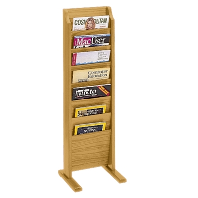 Floor Literature Rack with 7 Magazine Pockets