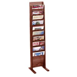 Floor Literature Rack with 10 Magazine Pockets