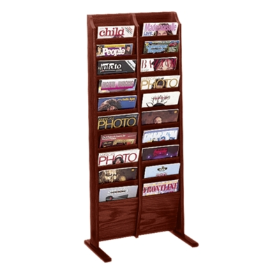 Floor Literature Rack with 20 Magazine Pockets