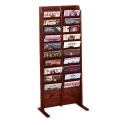 Floor Literature Rack with 20 Magazine Pockets