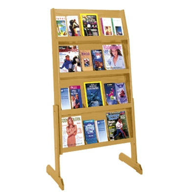 Literature Rack with 24 Pockets