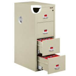 "Four Drawer Fireproof Letter Size Vertical File - 25""D"