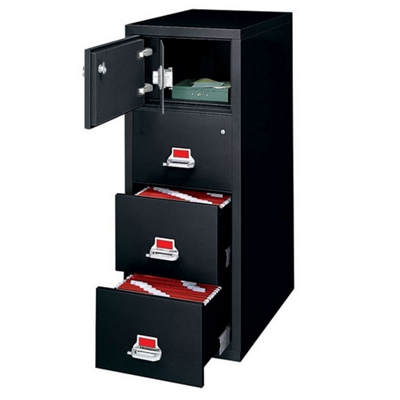 Legal Size Vertical Fireproof File with Safe