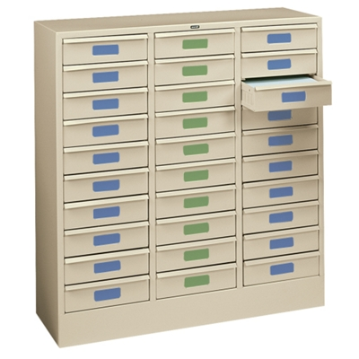Letter Size 30-Drawer Storage Cabinet