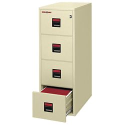 "Four Drawer Legal Size Vertical Fireproof File - 31""D"