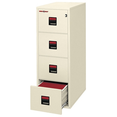 "Four Drawer Legal Size Vertical Fireproof File - 25""D"