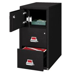 Two Drawer Legal Size Fireproof File with Safe
