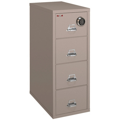 Fireproof Letter Vertical File with Four Drawers and Electronic Lock