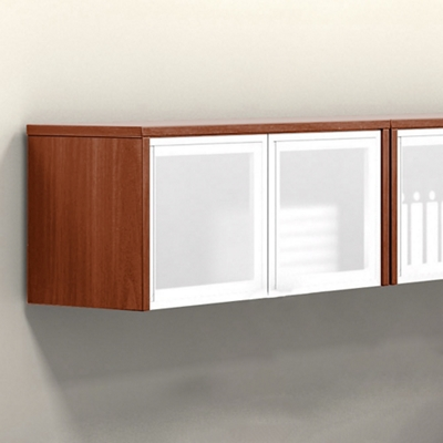 """Wall-Mounted Cabinet with Silver Doors - 36""""W"""