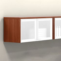 "Wall-Mounted Cabinet with Silver Doors - 36""W"