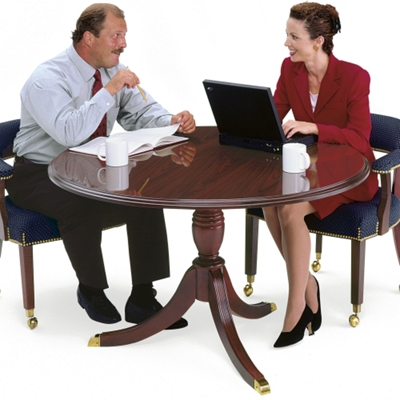 """Traditional Round Conference Table - 42"""" Diameter"""