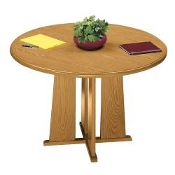 "Contemporary Round Conference Table - 42"" Diameter"