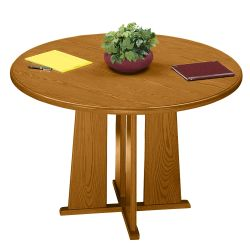 "Contemporary Round Conference Table - 48"" Diameter"