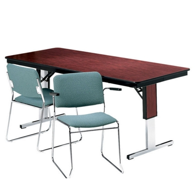 "Adjustable Height Folding Conference Table - 72"" x 18"""