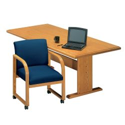 Contemporary Rectangular Conference Table - 8' x 3'6""