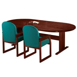 "Oval Conference Table - 120"" x 46"""