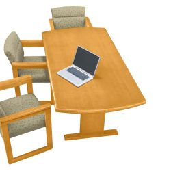 """Conference Table with Curved Ends - 72"""" x 36"""""""