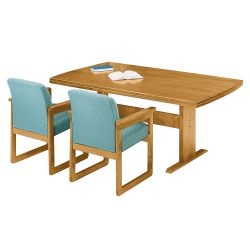 "Rectangular Conference Table with Curved Ends - 120"" x 46"""