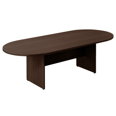Contemporary Racetrack Conference Table - 8 ft