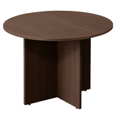 "Contemporary Round Table with Cross Base - 42""DIA"