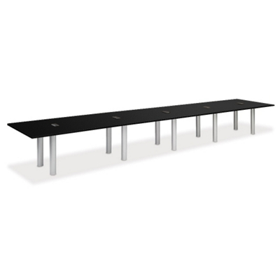 20' W Conference Table with Data Ports