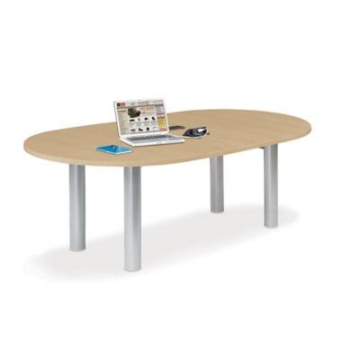6' W Racetrack Conference Table with Data Ports