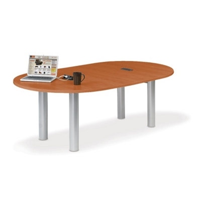 8' W Racetrack Conference Table with Data Ports