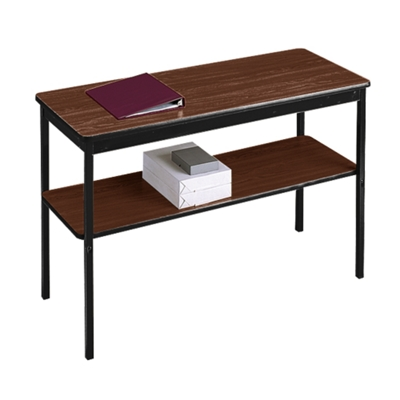 "Fixed Leg Utility Table with Lower Shelf - 18"" x 48"""