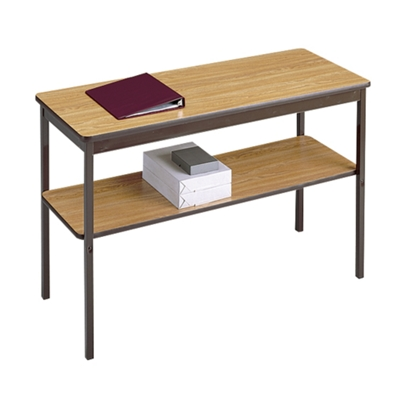 "Fixed Leg Utility Table with Lower Shelf - 24"" x 24"""