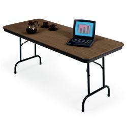 "Lightweight Rectangular Folding Table - 96"" x 30"""