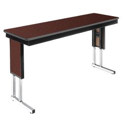 "Adjustable Height Folding Leg Seminar Table - 72"" x 18"""