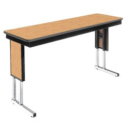 "Adjustable Height Folding Leg Seminar Table - 96"" x 18"""