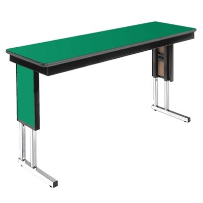 "Adjustable Height Folding Leg Seminar Table - 72"" x 24"""