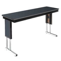 "Adjustable Height Folding Leg Seminar Table - 60"" x 18"""