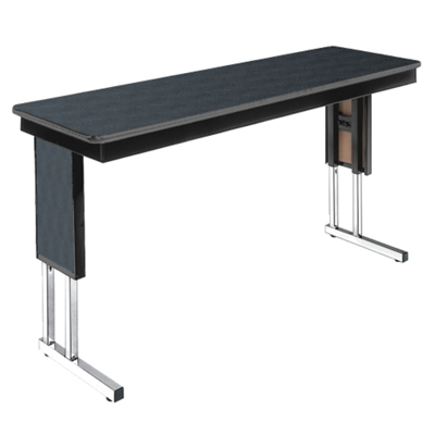 Adjustable Height Folding Leg Seminar Table   60 X 18   41191 And More  Lifetime Guarantee
