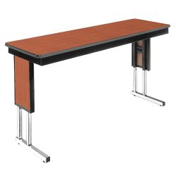 "Adjustable Height Folding Leg Seminar Table - 96"" x 24"""