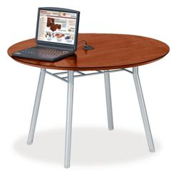 """42"""" Round Conference Table with Data Port"""