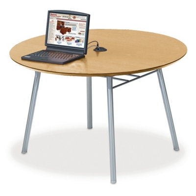48 Round Conference Table With Data Port   41479 And More Lifetime Guarantee