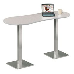 "Peanut Shaped Bar Height Table - 72"" W x 30"" D"