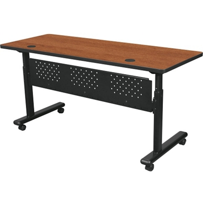 "Adjustable Height Mobile Flipper Table with Modesty Panel - 72""W"