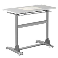 "Standing Height Tilt-Top Table - 48""W"