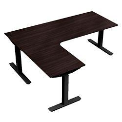 "Height-Adjustable L-Desk - 72""W x 48""D"