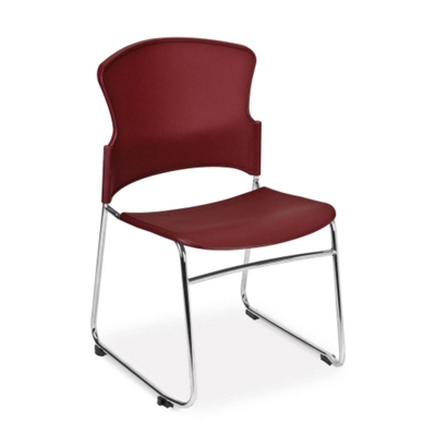Armless Plastic Shell Stack Chair