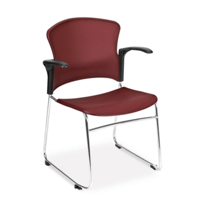 Plastic Shell Stack Chair with Arms