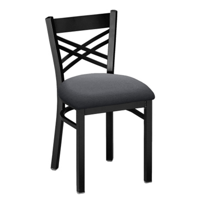 Cross-Back Chair with Black Frame