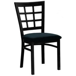 Grid-Back Chair with Black Frame