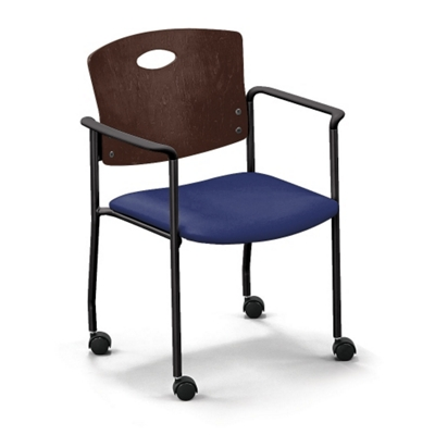 Strata Standard Chair with Arms and Casters