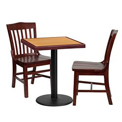 "Breakroom Table and Chair Set- 24""W x 24""D"