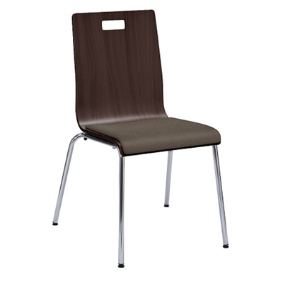 Barista Armless Cafe Chair with Padded Seat